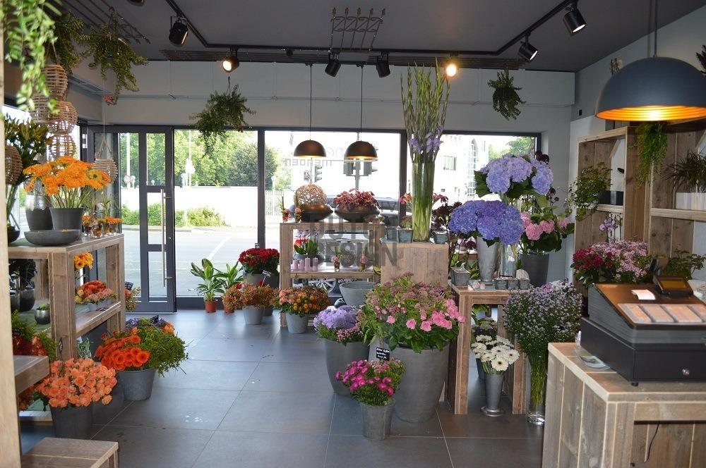 Blumengeschäft Einrichtung aus Bauholz - | Bauholz ...