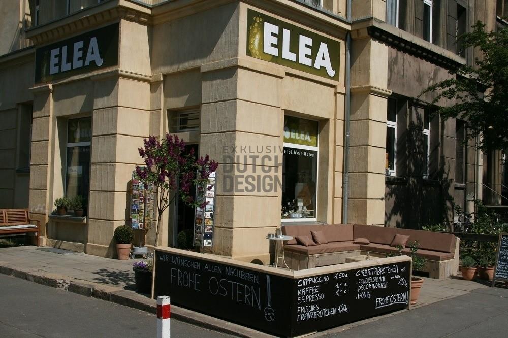 Gastronomie Terrassen Bestuhlung Holz Bauholz Ladeneinrichtung