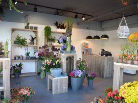 Bauholz Blumenladen Einrichtung