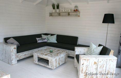 Shabby Chic Möbel: Bauholz Couchtisch