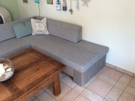 Lounge-Eckbank Leverkusen in Bauholz Grey Wash