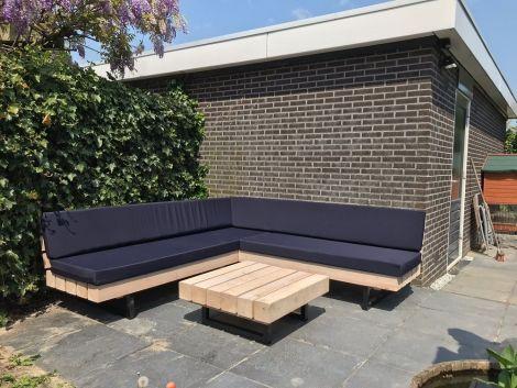 Gartenmöbel aus Dougalsienholz: Lounge Ecksofa Regensburg