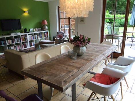 Bauholz Tischplatte Rustikal ohne Behandlung
