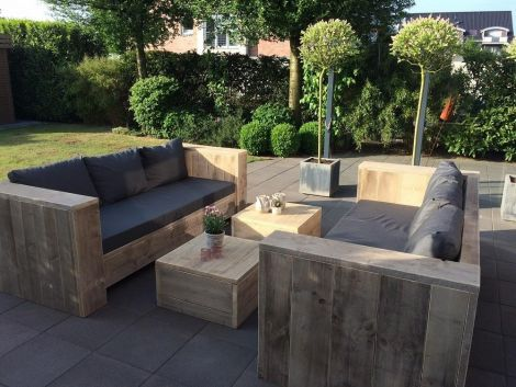 Bauholz Lounge Sofa Stuttgart