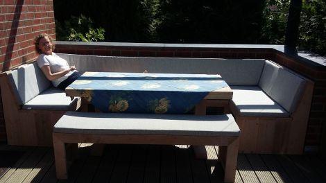 Douglasie Gartenbank 300 cm mit transparentem Öl