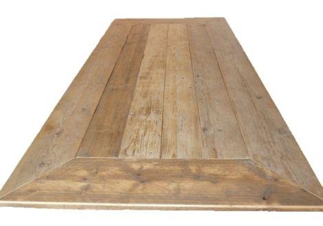 Bauholz Tischplatte Gehrung mit Lack