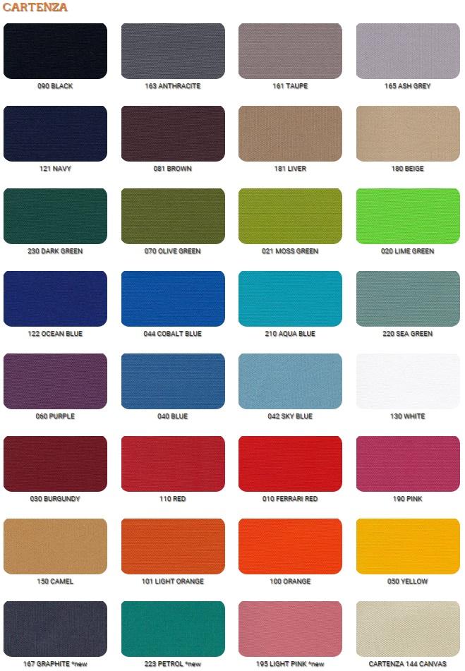 Cartenza Kissen Farben