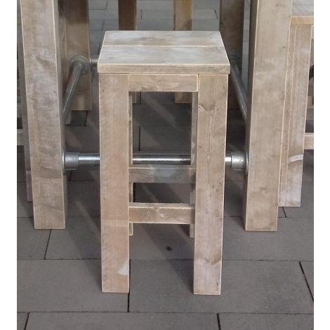 Barhocker Tutow aus Bauholz mit White Wash Öl