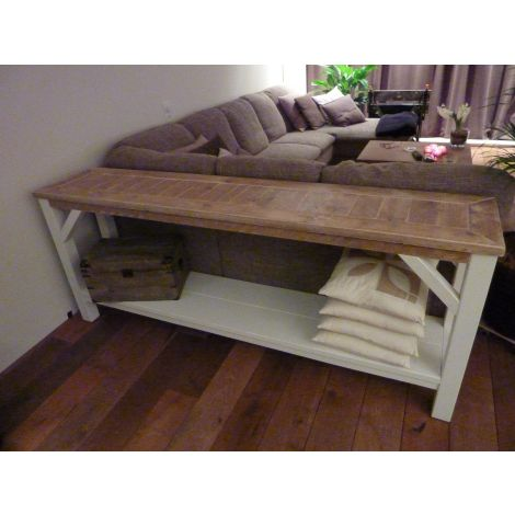 Bauholz Sideboard Saarland - Landhaus-Stil Deckweiss + Innenlack