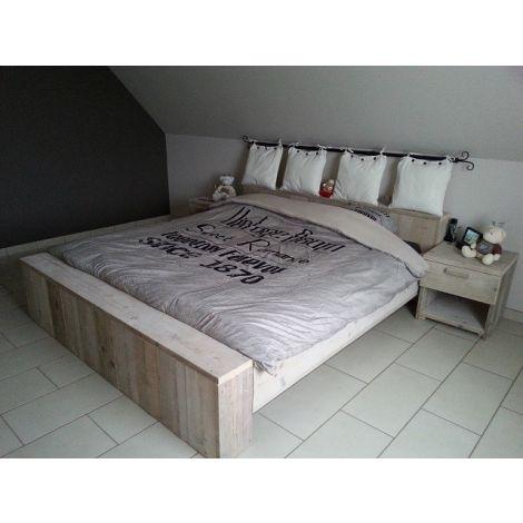Bauholz Möbel - Bett Flensburg Doppelbett (Unbehandelt)