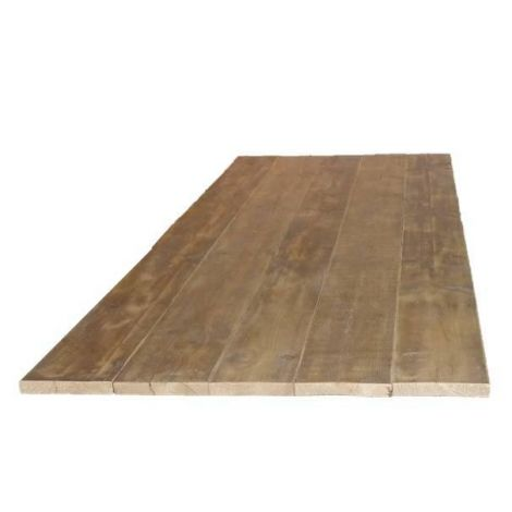 Bauholz Tischplatte gerade mit Lack