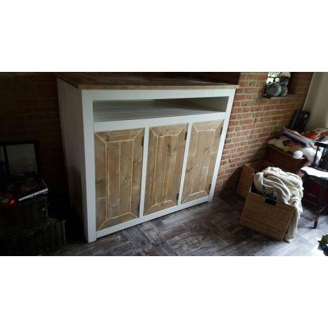 Bauholz Sideboard Schwaben im Landhaus-Stil mit Lack